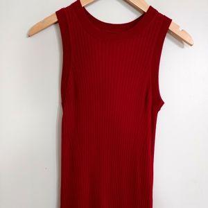Maroon sleeveless dress